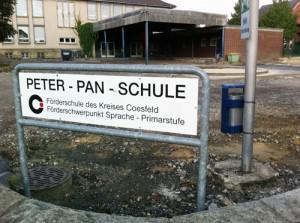 Der Schulhof der Peter Pan Schule
